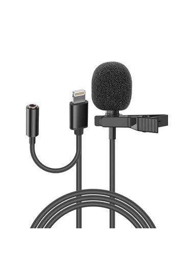 Snopy Sn-Mtk35 Siyah Lighting Akıllı Telefon, Tik-Tok Ve Youtuber Kulaklık Çıkışlı Yaka Mikrofonu Renkli
